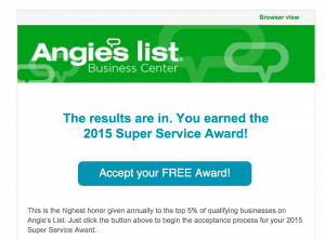 Angie's List Super Service Email