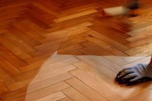 hardwood floor waxing treatment